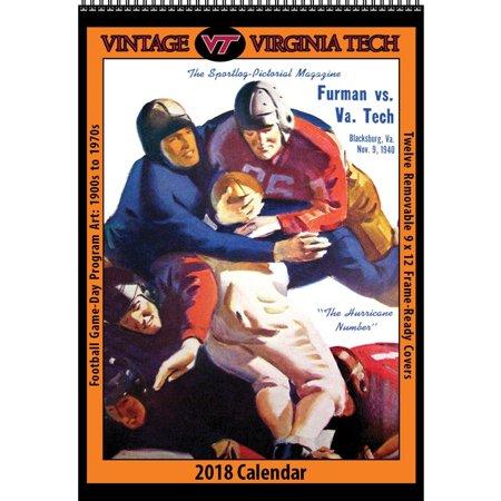 Virginia Tech Calendar.Virginia Tech Vintage Football Wall Calendar Virginia Tech Hokies By Asgard Pre
