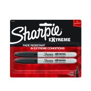 Sharpie Extreme Permanent Markers, Fine Point, Black, 2 Count