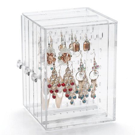OCDAY Transparent Women Jewelry Display Shelf Practical Desktop Earrings Holder Rack - image 3 of 10