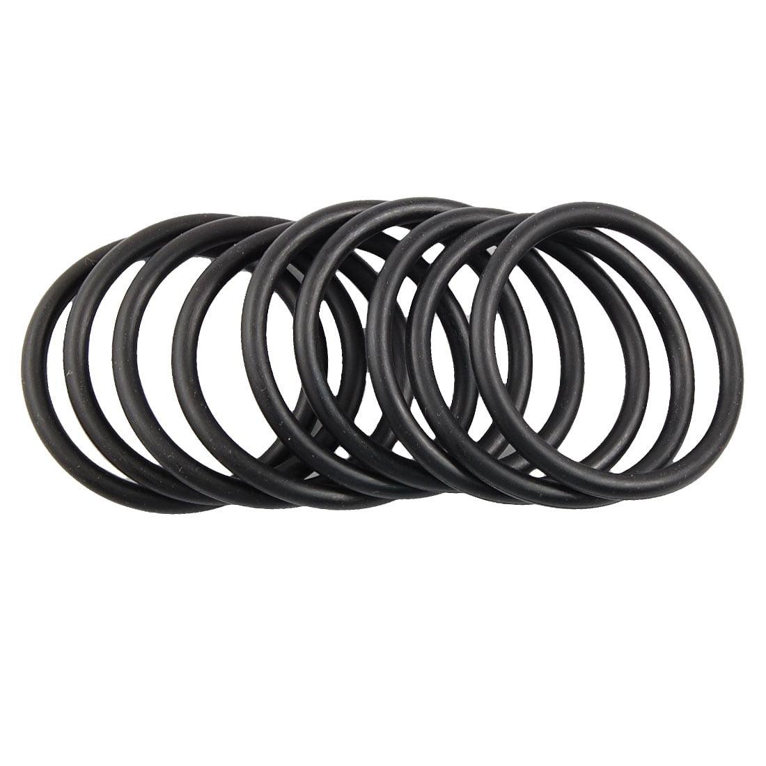 Unique Bargains 10 Pcs Black Nitrile Rubber O Ring Grommets Seal 40mm x 48mm x 4mm