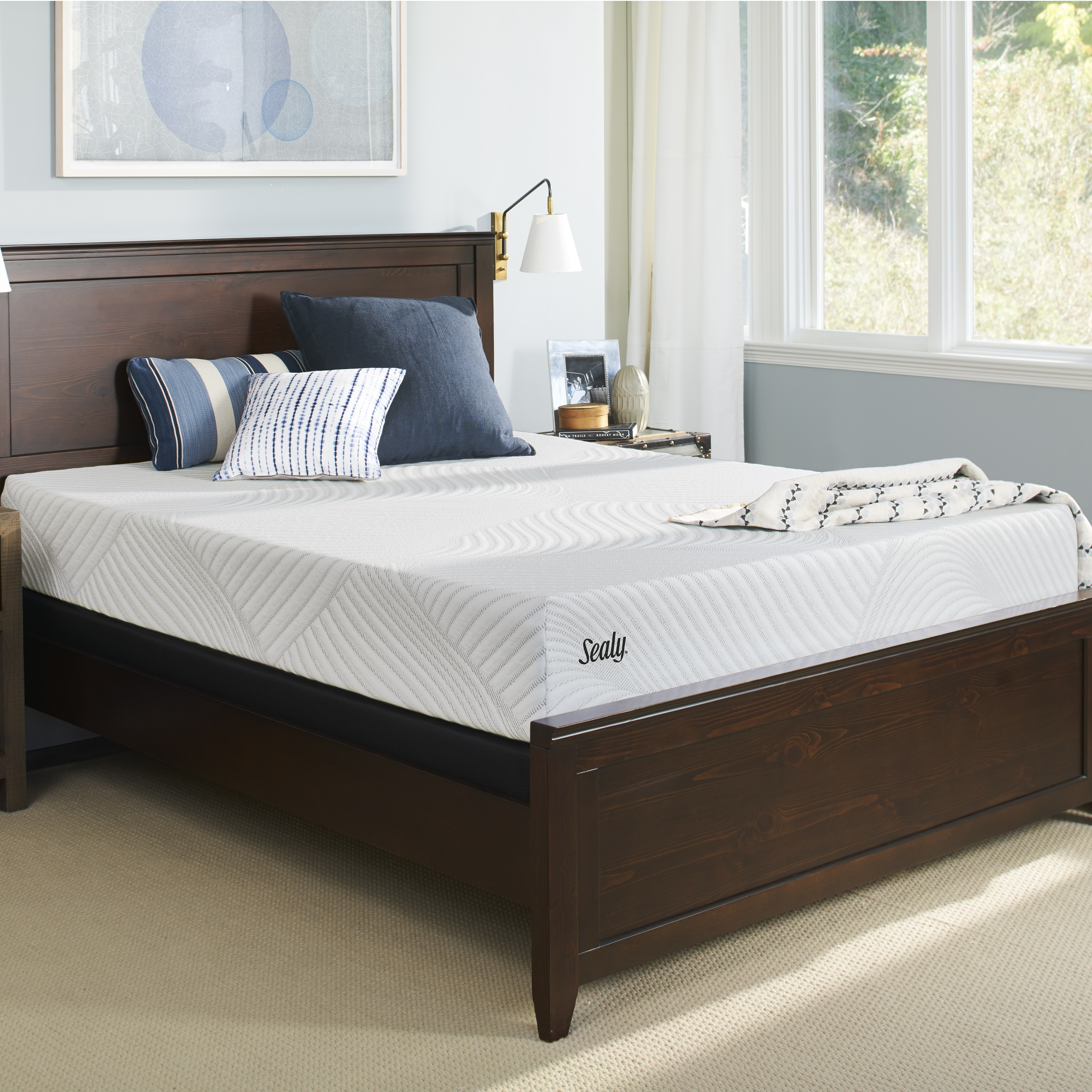 """Sealy Conform Essentials 9.5"""" Firm Mattress with High Profile Foundation Set by Sealy"""