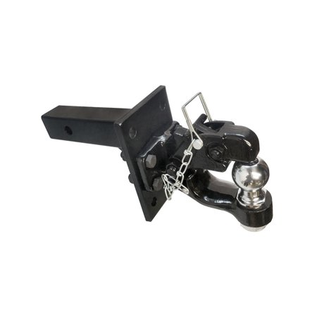 Hitch Combo - 2'' x 2'' Solid Adjustable Mounting plate & 8 Ton Pintle w/ 2'' Ball COMBO Hitch