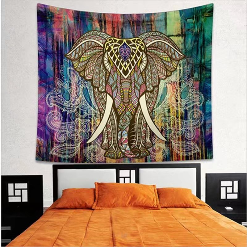 VicTsing Popular Boho Style Home Living Tapestry Beautiful Living Room/Bedroom Decor Multi Functional Hanging Blanket (150*130cm; Version C)