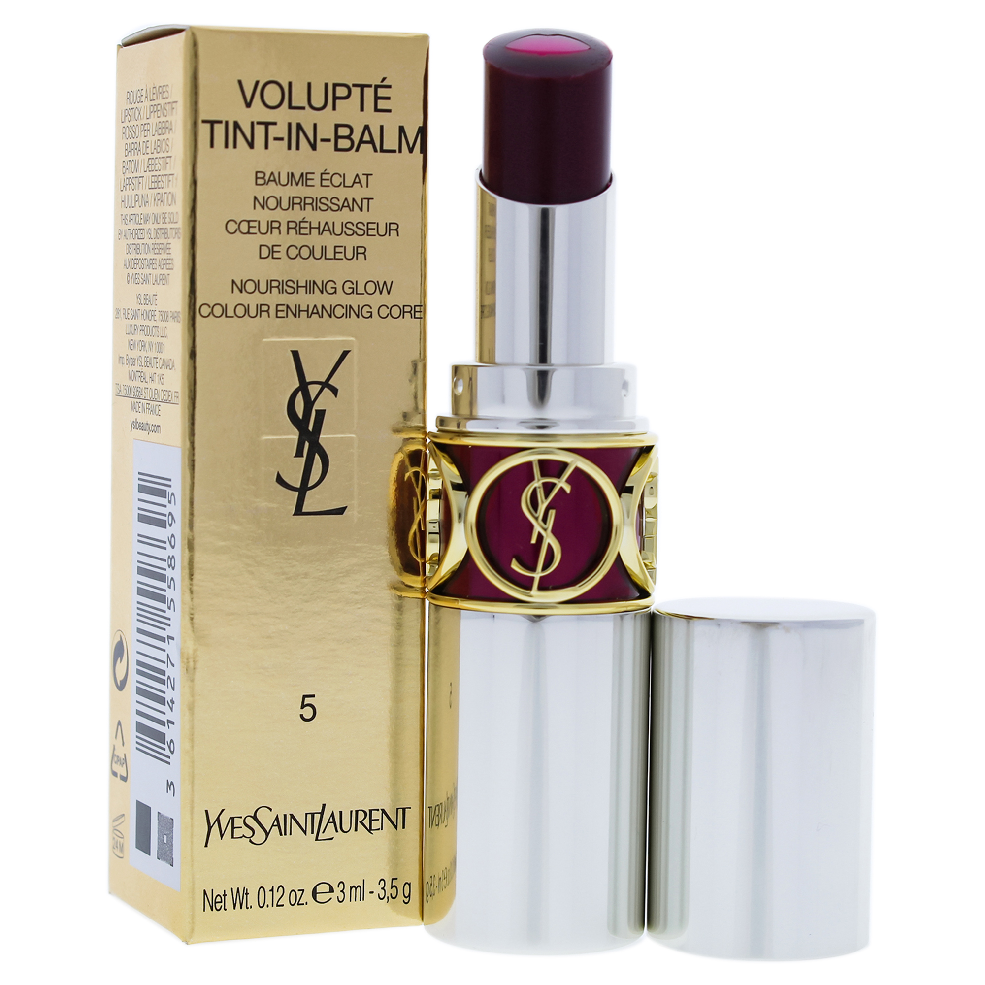 Volupte Tint In Balm - 5 Dare Me Plum by Yves Saint Laurent for Women - 0.12 oz Lipstick