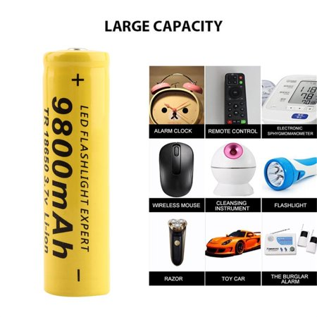 3.7V 18650 9800mah Li-ion Rechargeable Battery For LED Flashlight Torch/electronic gadgets 65x17mm - image 4 de 5