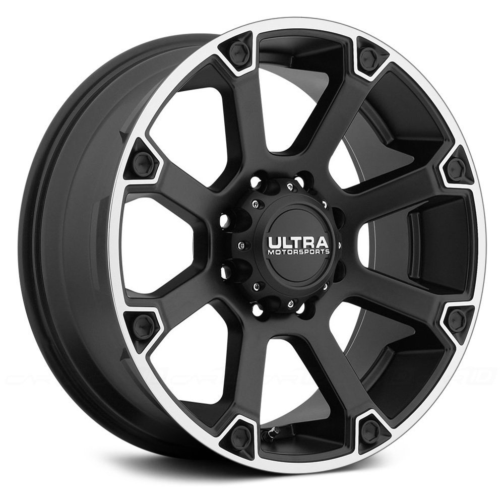 Ultra Spline 18 Black Wheel / Rim 8x6.5 with a 12mm Offset and a 125.2 Hub Bore. Partnumber 245-8982SB+12