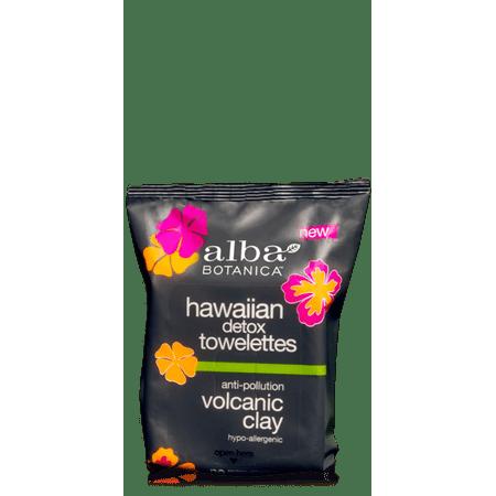 (2 Pack) Alba Botanica Hawaiian Detox Anti-Pollution Volcanic Clay Towelettes, 30