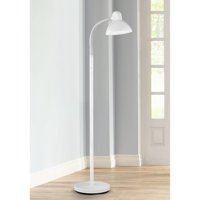 360 Lighting Modern Floor Lamp Adjustable Gooseneck Arm White Metal for Living Room Reading Bedroom Office