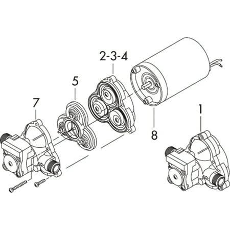 Shurflo 9423120 Series 2088 RV Upper Housing / Switch Kit Repair ...