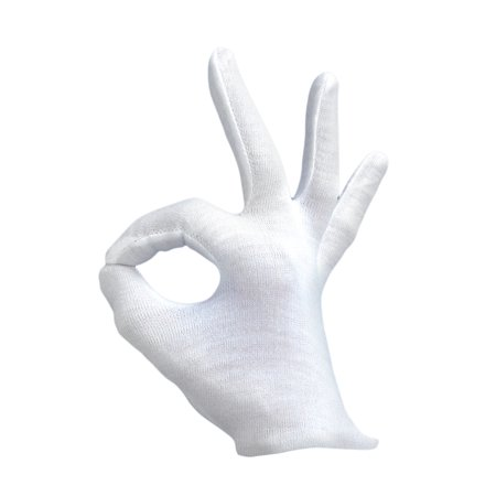 Loftus Santa Magician Costume Accessory Pair Gloves, White, One Size - White Magician Gloves