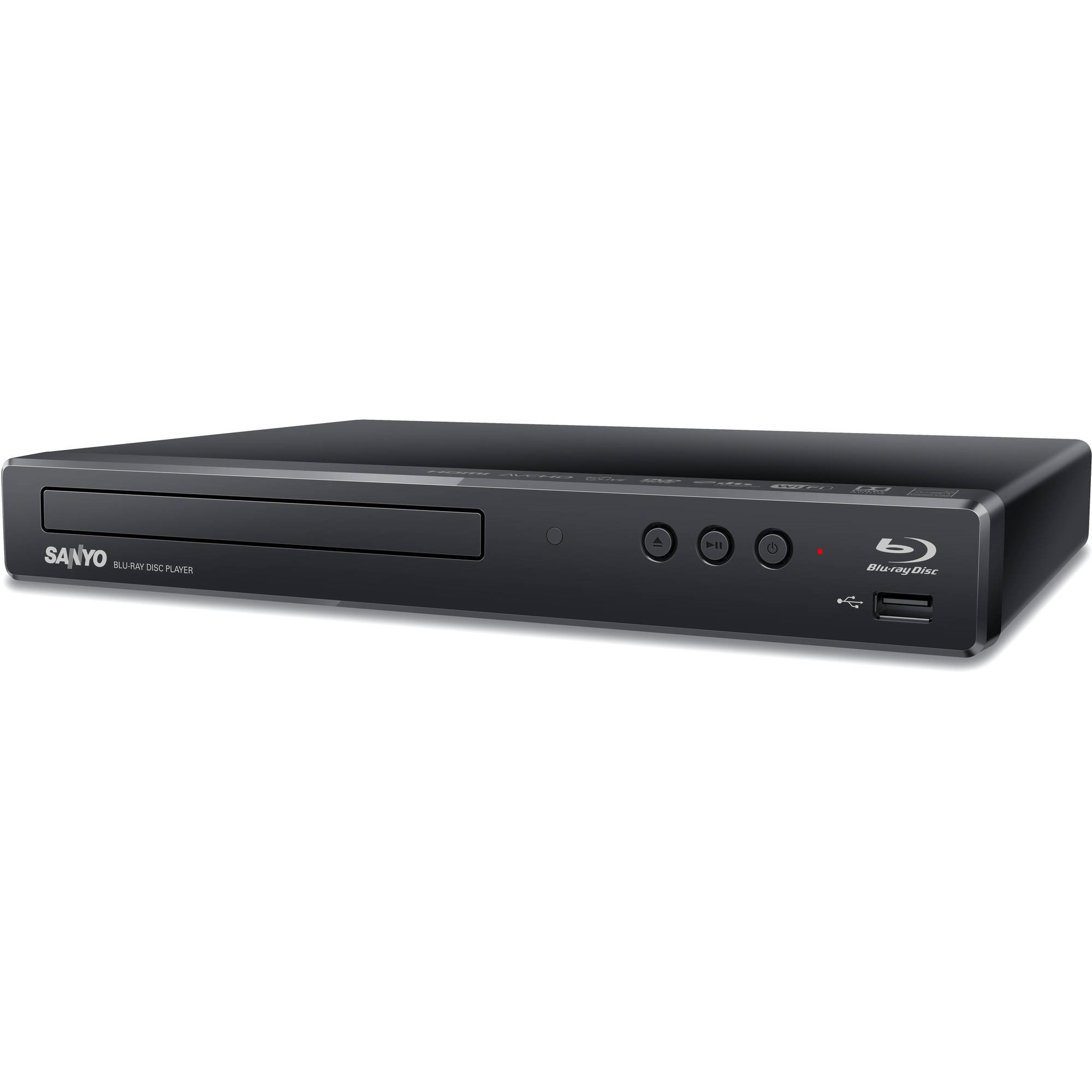 Sanyo Blu-ray Disc/DVD Player with Built-in WiFi