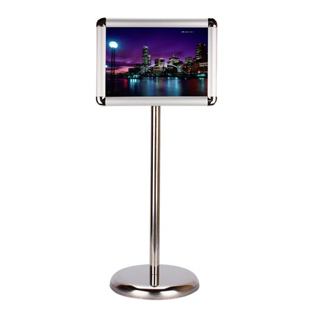 Stainless Steel Adjustable Poster Display Stand,A4 Round Edge Steel ...