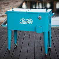 Permasteel 80 Qt. Pepsi Patio Rolling Cooler
