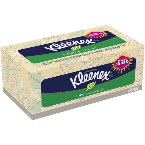 Kleenex Lotion Aloe & E Facial Tissue, 120 sheets