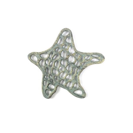 Antique Seaworn Bronze Cast Iron Starfish Trivet 7