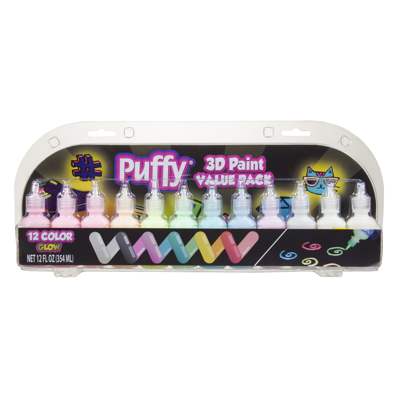 Puffy Paint 1 Fl. Oz. Glow Paint, 12 count
