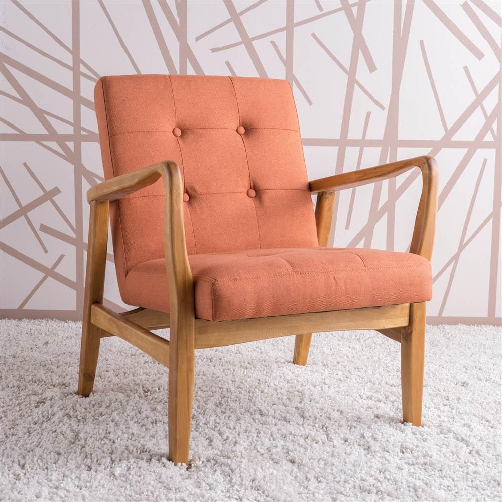 28.25 in. Club Chair in Orange