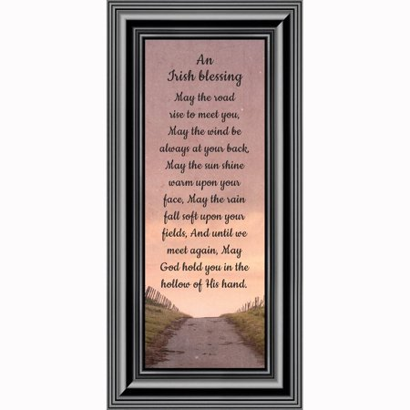 An Irish Blessing, Irish Blessing Picture Frame, May The Road Rise to Meet You, 6x12