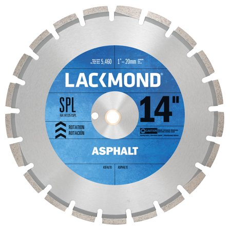 14 Inch Curved Blade - Lackmond 14-Inch High Speed Diamond Blade for Asphalt and Green Concrete