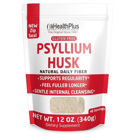 12 Ounce Psyllium - Health Plus 100% Pure Psyllium Husk Bags, 12-Ounces, 48 Servings