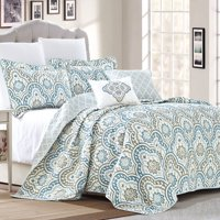 Serenta Tivoli Ikat 5 Piece Quilted Coverlet Bed Spread Set