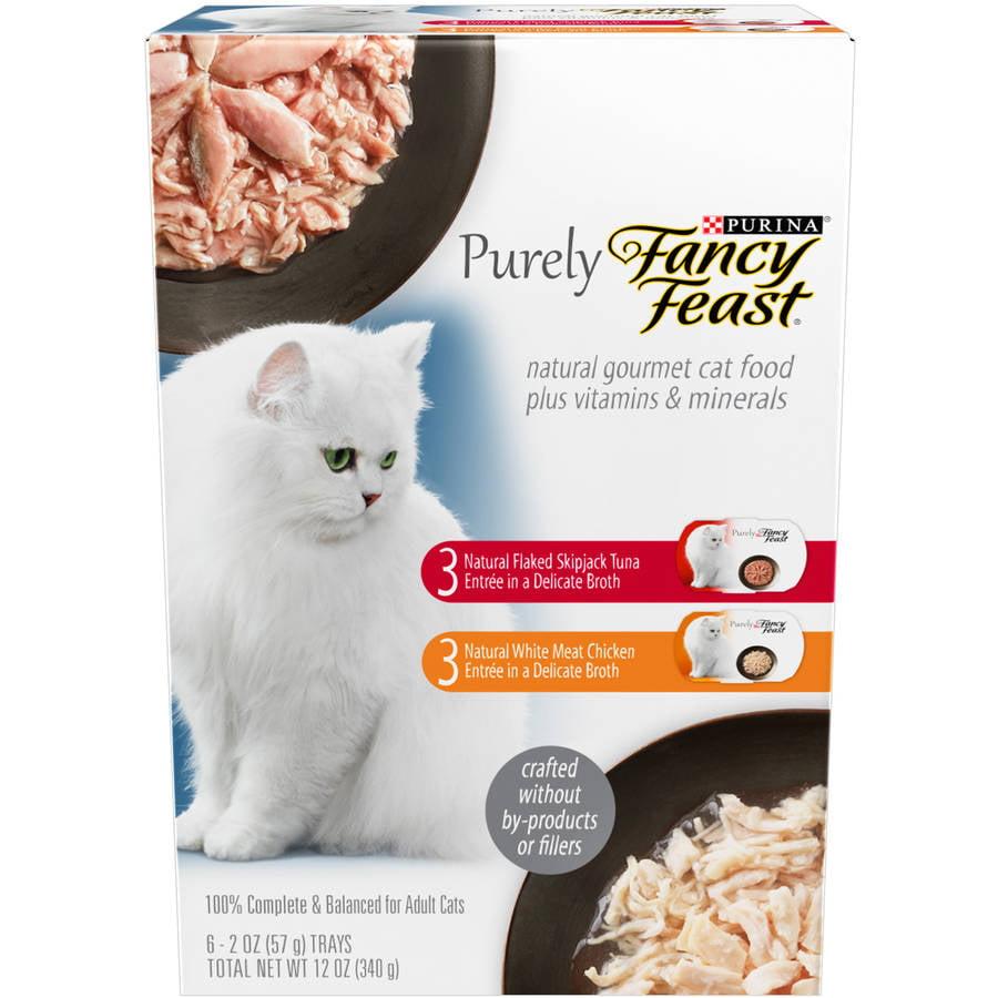 Purina Purely Fancy Feast Entr��es Cat Food 6-2 oz. Trays