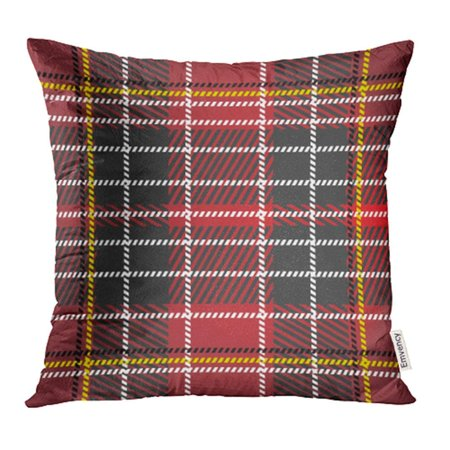 ARHOME Scottish Tartan Plaid Highlands Holiday Abstract Britain Celebration Celtic Pillow Case Pillow Cover 18x18 inch Throw Pillow Covers