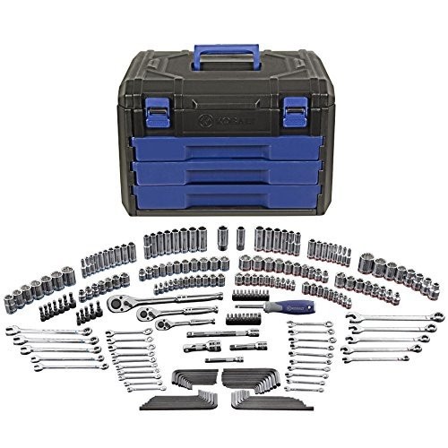 Husky Mechanics Tool Set 268 Piece with Case SAE Metric Socket Wrench H268MTS