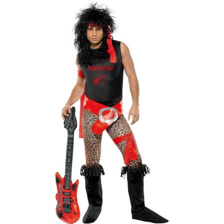 b379e5a60 80 s Rocker Men s Halloween Dress Up   Role Play Costume - Walmart.com
