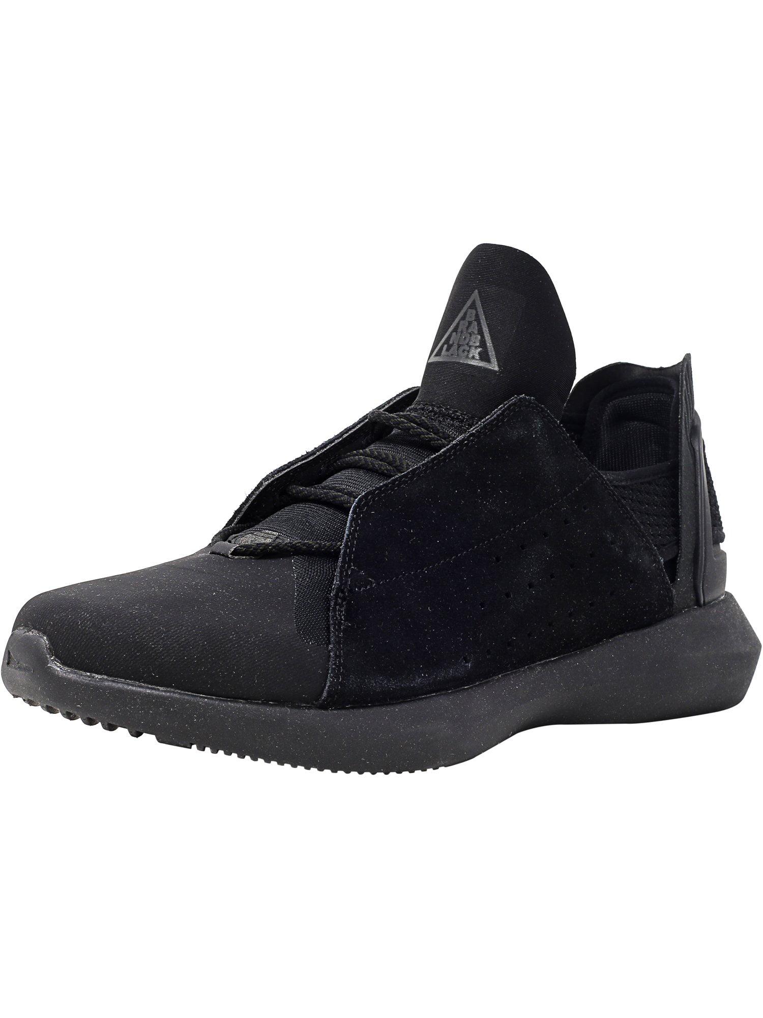 Brandblack Men's Gambetto Black Ankle-High Leather Tennis Shoe - 10WW