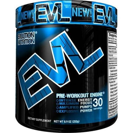 Evlution Nutrition ENGN Pre Workout Powder, Blue Raz, 30