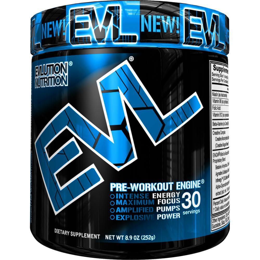 Evlution Nutrition ENGN Pre Workout Powder, Blue Raz, 30 Servings