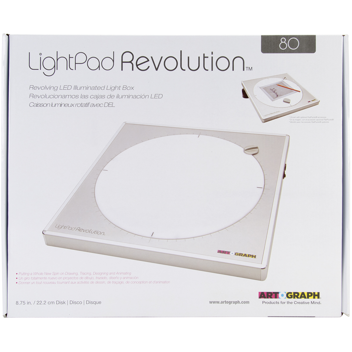 "80 LightPad Revolution LED Light Box-Approximately 8.75"""