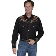 Scully Western Shirt Mens Long Sleeve Snap Guitar Boots P-842