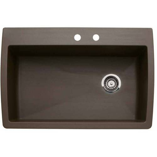 """Blanco 440195-2 Diamond 22"""" X 33.5"""" Single-Basin Granite Drop-In Or Undermount 2-Hole Residential Kitchen Sink, Available in Various Colors"""