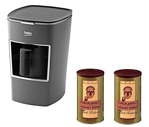 Beko Turkish Coffee Maker BKK 2113M (Usa 120 Volt) with Two (2) Mehmet Efendi