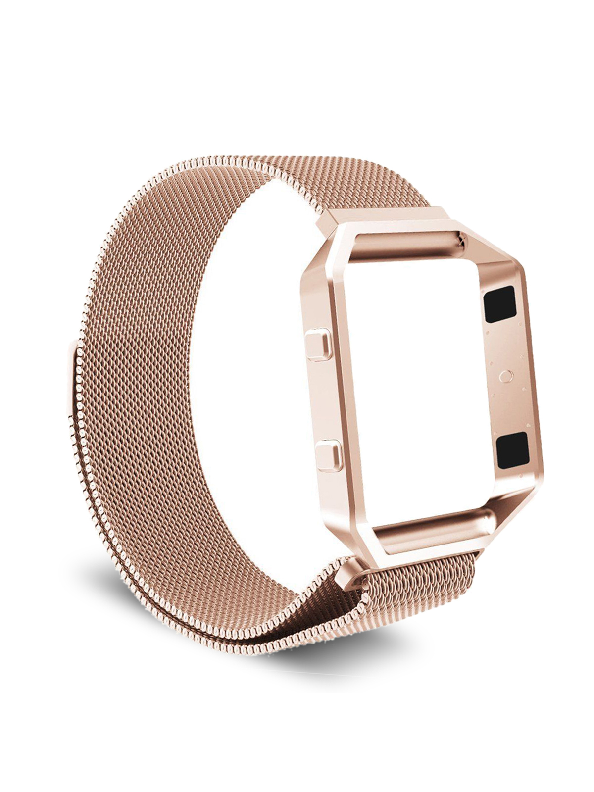 TSV 6.0-10.2 in Milanese Magnetic Stainless Steel Wrist Band Strap + Metal Frame for Fitbit Blaze Smart Fitness