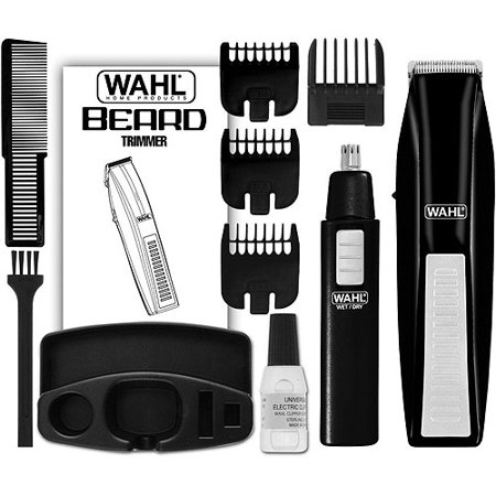 wahl beard trimmer with bonus personal trimmer 5537 1801. Black Bedroom Furniture Sets. Home Design Ideas