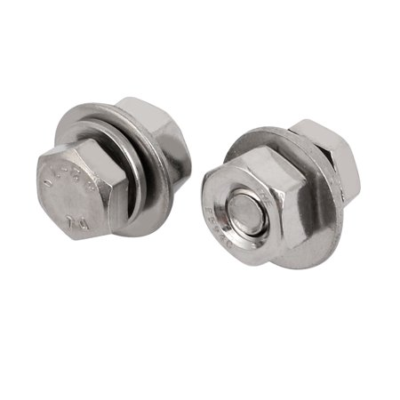 """10 Set 304 Stainless Steel 1/4""""-20 Thread 1/2"""" Length Hex Bolt Kit w Washer Nut - image 1 of 3"""