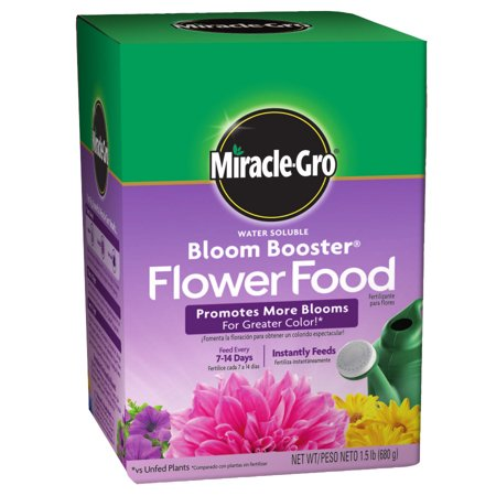 Miracle-Gro Water Soluble Bloom Booster Flower Food, 1.5