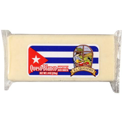El Quesero Queso Blanco Monterey Jack Cheese, 8 oz