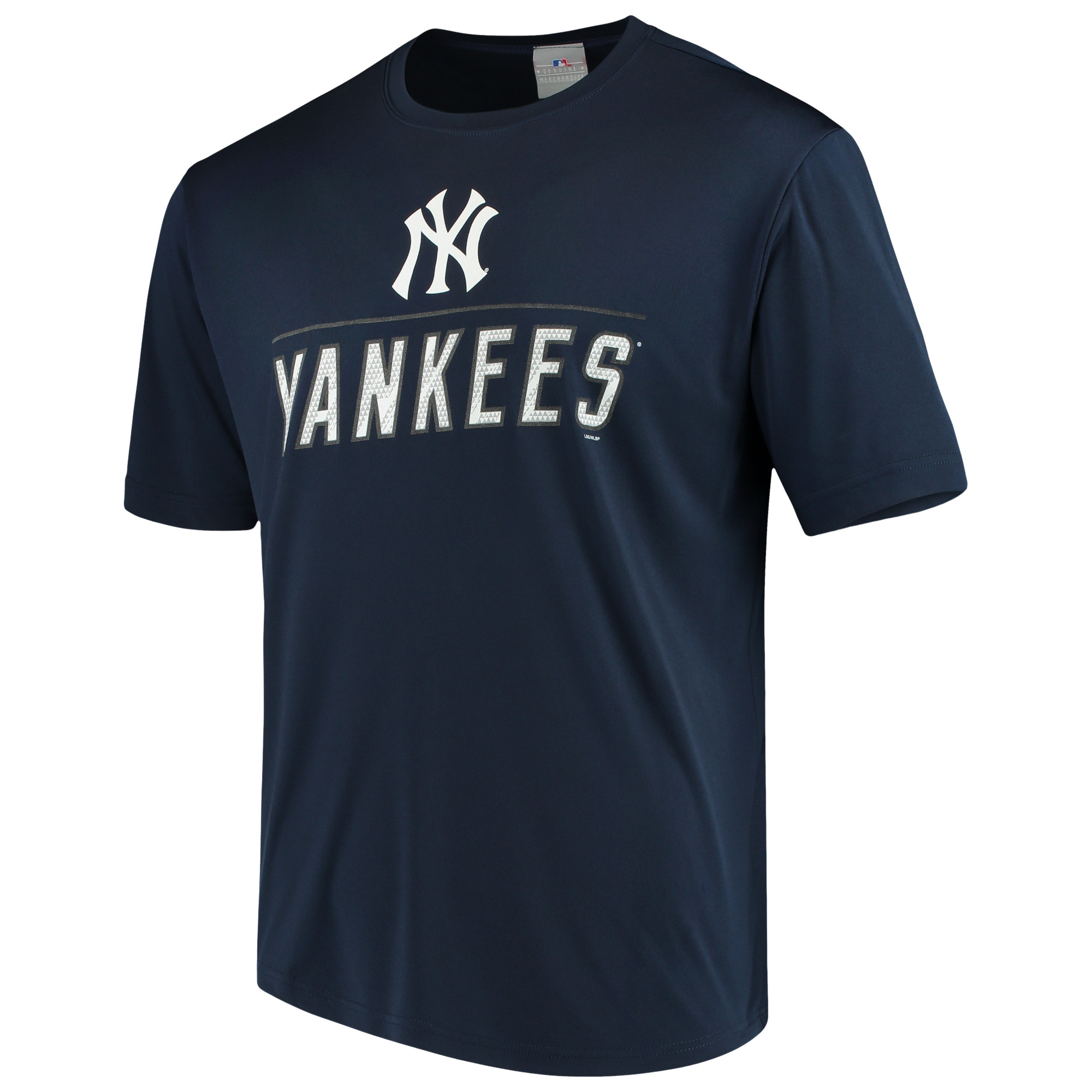 Men's Majestic Navy New York Yankees Big Athletic TX3 Cool Fabric T-Shirt