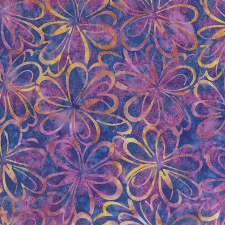Fabric Graphics (Wilmington Batiks Sonic Bloom Purple Yellow Graphic Floral)