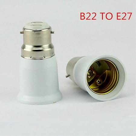 Redcolourful B22 To E27 ES Edison Screw Light Bulb Lamp Base Socket Converter Extender Adaptor Holder - Extender Base Unit
