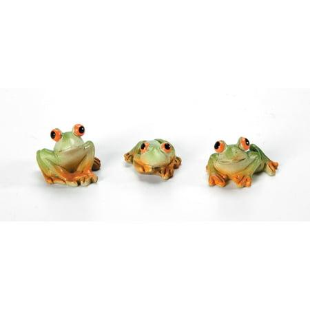 Fairy Garden Animals: Resin Mini Frogs, 3 pack - Mini Frogs