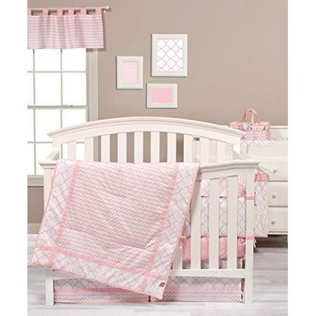 - Trend Lab Pink Sky 3 Piece Crib Bedding Set