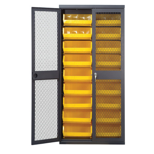 Quantum Storage Mesh Safe-View Storage Cabinet with Ultra Size Bins