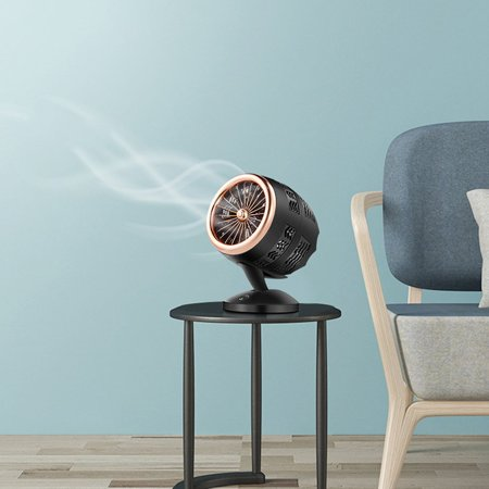 Mute Convection Air Circulation Desktop Mini Fan Portable Small Fan Double Leaf Turbo Fan Portable Durable - image 1 of 5
