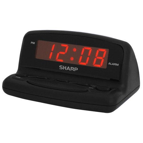 Sharp LED Alarm Clock, Black