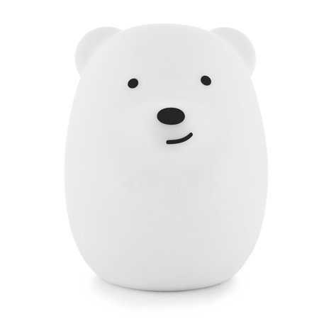 LED Nursery Night Lights for Kids: LumiPets Cute Animal Silicone Baby Night Light with Touch Sensor and Remote - Portable and Rechargeable Infant or Toddler Cool Color Changing Bright Nightlight (Jungle Babies Night Light)